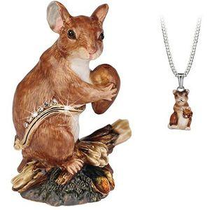 Hidden Treasures Secrets Field Mouse Trinket Box