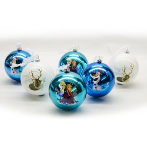 Frozen Christmas Tree Baubles 8cm - Pack of 6