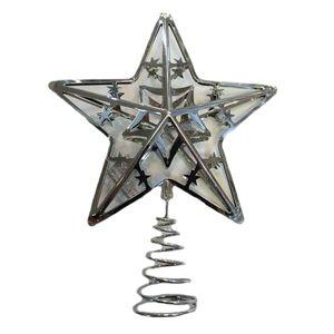 25.5cm metal tree top star - silver