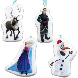 Set of 4 Frozen Decoupage Baubles
