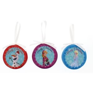 Set of 3 Frozen (Elsa Anna & Olaf) baubles