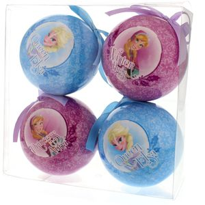 Pack of 4 Frozen Decoupage Balls