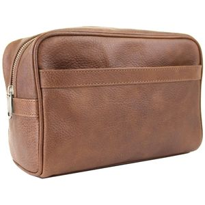British Bag Company - Oily Tan Leather Wash Bag