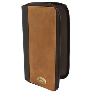 British Bag Company Duck Logo Leather Travel Wallet - Tan/Brown