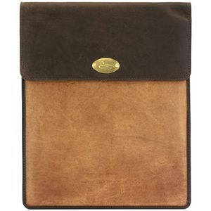 British Bag Company Duck Logo Leather Tablet Sleeve Case - Tan/Brown (Large)