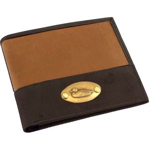 British Bag Company Duck Logo Leather Wallet - Tan/Brown