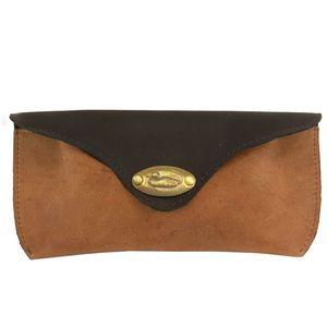 British Bag Company Duck Logo Leather Glasses Case - Tan/Brown