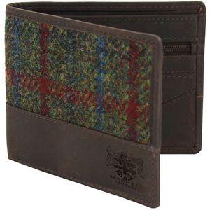 Harris Tweed Wallet: Breanais Green