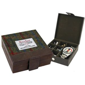 Harris Tweed Trinket Box: Breanais Green