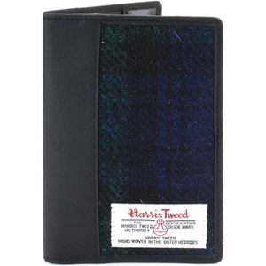 Harris Tweed Passport Holder Leather Trim: Bragar BWT