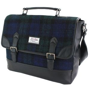 Harris Tweed Briefcase Satchel PU Trim: Bragar BWT