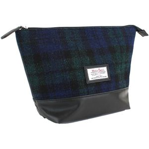 Harris Tweed Travel Wash Bag PU Trim: Bragar BWT