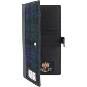 Harris Tweed Travel Document Wallet: Bragar Black Watch
