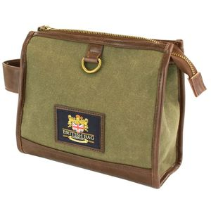 British Bag Company Waxed Canvas Wash Bag