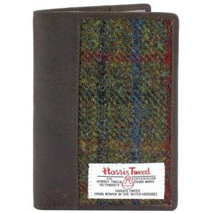 Harris Tweed Passport Holder Leather Trim: Breanais