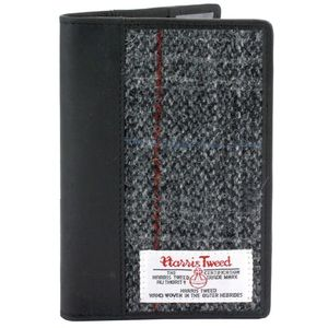 Harris Tweed Passport Holder Leather Trim: Berneray