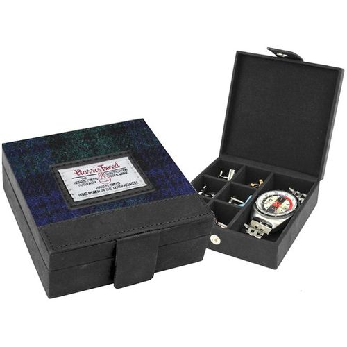 Harris Tweed Trinket Box :Bragar Black Watch
