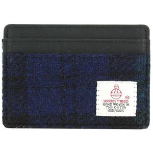 Harris Tweed Card Holder Leather Trim: Bragar BWT