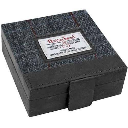 Harris Tweed Trinket Box: Berneray Grey