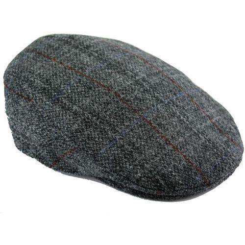Harris Tweed Cap (Small): Berneray Grey
