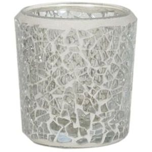 Aroma Votive Candle Holder: Clear Lustre Mosaic