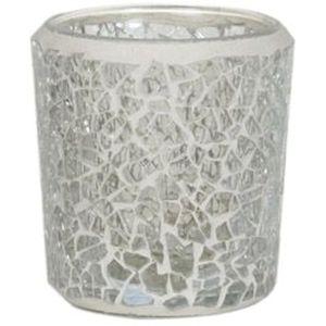 Aromatize Votive Candle Holder: Clear Lustre Mosaic