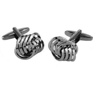 Linked Loops Cufflinks (Gunmetal Grey)