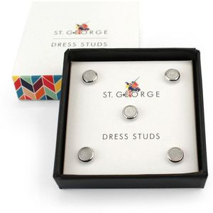 Dress Studs - Round Mother of Pearl