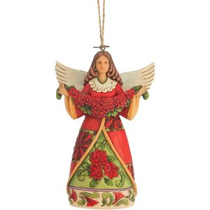 Heartwood Creek Hanging Ornament Poinsettia Angel