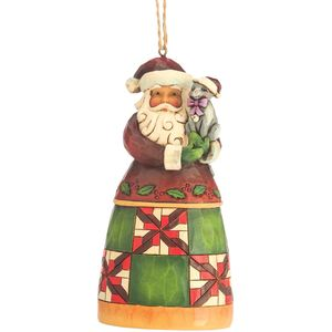 Heartwood Creek Hanging Ornament Santa with Cat