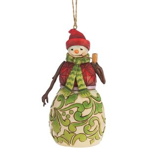 Heartwood Creek Hanging Ornament Red & Green Snowman