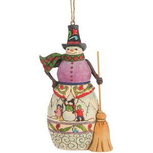 Heartwood Creek Hanging Ornament - Winter Scene Snowman
