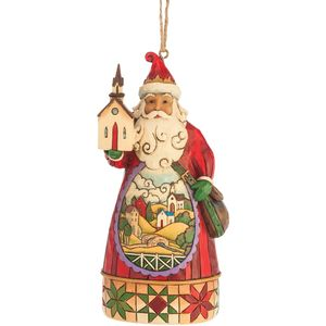 Heartwood Creek Hanging Ornament - Church Scene Santa