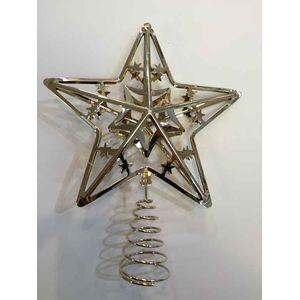 Christmas Tree Topper - Metal Gold Star