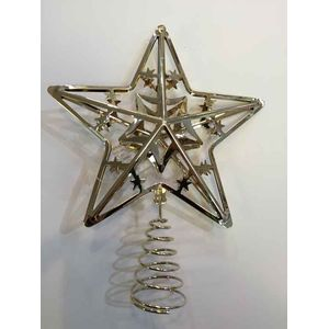 Metal Christmas Tree Top Star - Gold