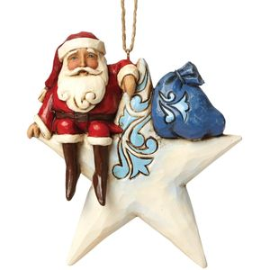 Heartwood Creek Hanging Ornament Santa on Star