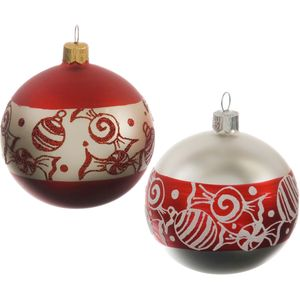 Skandi Sweet Ball Christmas Bauble Set of 2