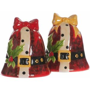 Christmas Bells Cruet Set Salt & Pepper Pots