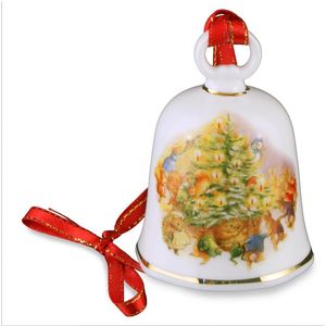 Reutter Porcelain Beatrix Potter Peter Rabbit & Friends Christmas Bell