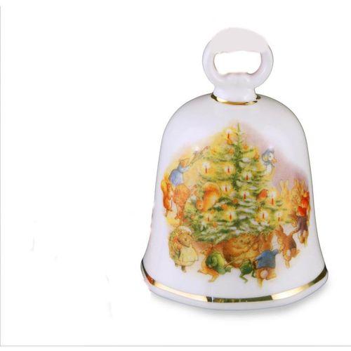 Reutter Porcelain Xmas Beatrix Potter Peter Rabbit & Friends Christmas Bell