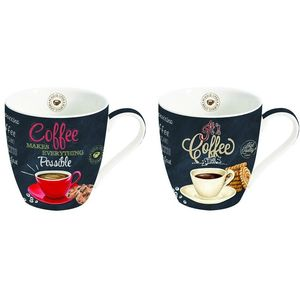Ardesia Range Set of 2 Porcelain Mugs (Coffee design)
