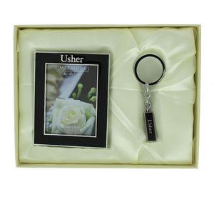 Wedding Gift Set Photo Frame & Keyring - Usher
