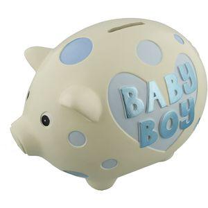 Wendy Jones Blackett Ceramic Pig Money Bank - Baby Boy