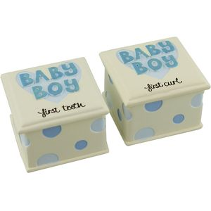 Wendy Jones Blackett First Tooth & First Curl Gift Set - Baby Boy