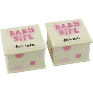 First Tooth & Curl Gift Set - Baby Girl