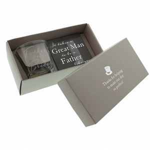 Amore Wedding Party Whisky Glass & Coaster Gift Set - Father of the Bride