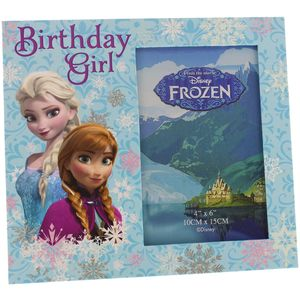 Disney Photo Frame - Elsa & Anna Birthday Girl 6x4""