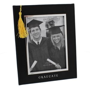 "Silver Foil Graduate Photo Frame 5x7"""