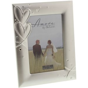 Amore Silver Plated Photo Frame 4x6""