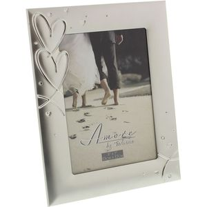 Amore Photo Frame with Hearts & Crystals 5x7""